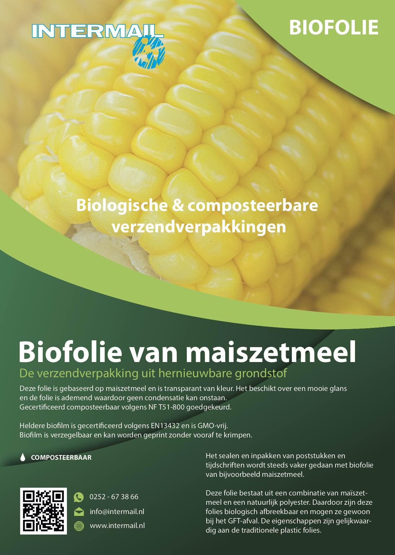 Biofolie van maiszetmeel | Intermail BV