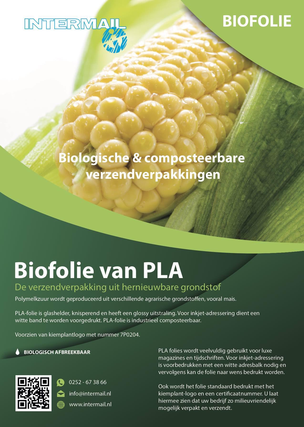 Biofolie van PLA | Intermail BV