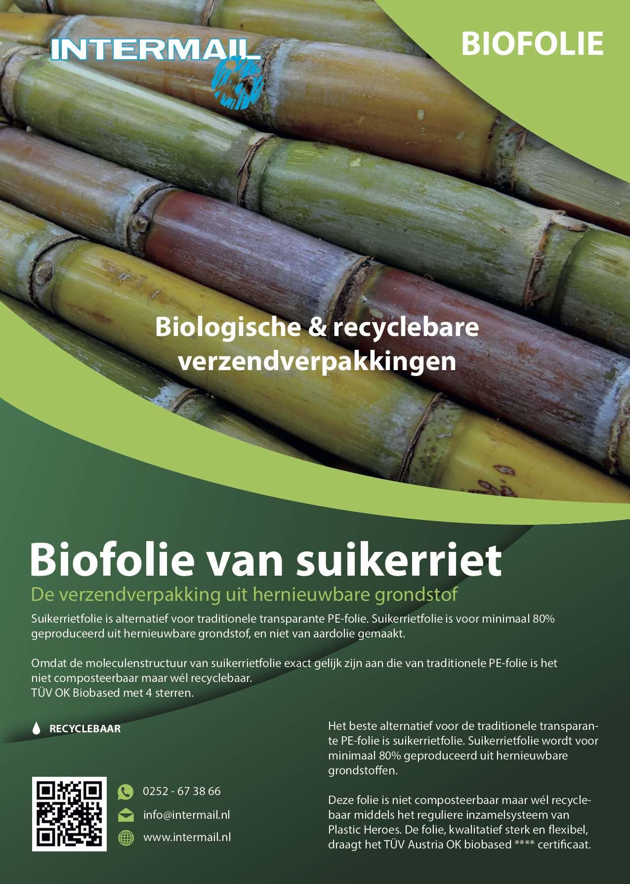 Biofolo van suikerriet | Intermail BV