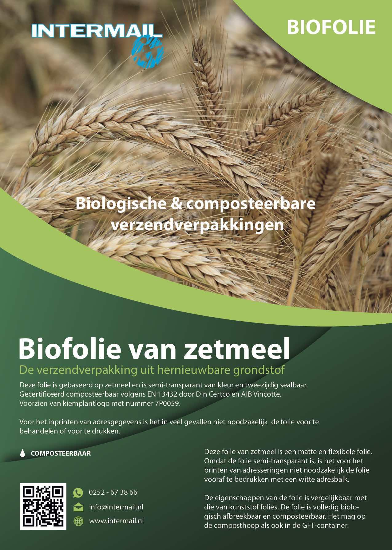 Biofolie van zetmeel | Intermail BV